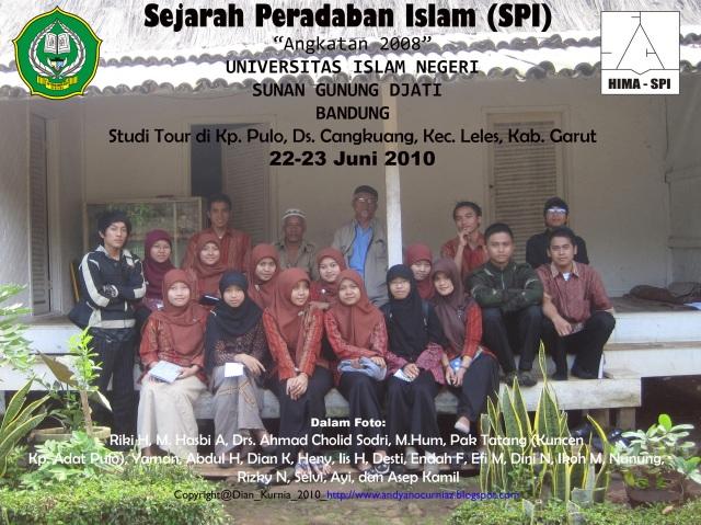 Study Tour SPI TA 2008 di Ds. Cangkuang, Kec. Leles, Kab. Garut, Jawa Barat